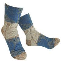 【nonnette】 Dancing leaf  Socks    NS238Y-10/ beige