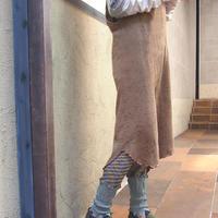 【nonnette】 Marble color  fabric combination Leggings NL061R- 93/ olive  gray