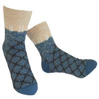 【Socks】 Fun grid  Socks    NS242G- 79 (¥2,400 +tax)