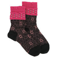 【nonnette】 Flower shower Socks     NS239Y-99 / black