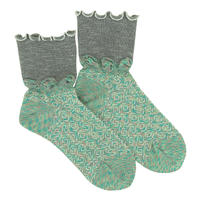 【nonnette】 Kururin  Socks      NS227G- 90/ gray
