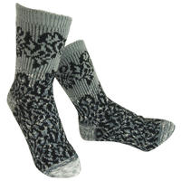 【nonnette】 Various fabrics Socks    NS234K- 90/ gray