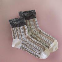 【Socks】 Irregular stripes  Socks    NS261Y-11 (¥2,000 +tax)