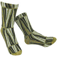 【nonnette】Geometric line  Socks    NS237G-23/ cream yellow