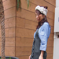 【nonnette】Fringe mix  Headbands  HH055R- 91/ light gray
