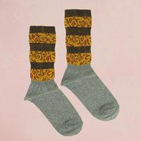 【Socks】Jacquard line  Socks  NS219Y- 90 (¥2,400 +tax)