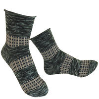 【nonnette】 Plaid mix  Socks    NS231Y- 99/ black