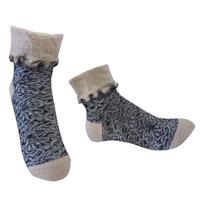 【Socks】 Curly flower  Socks    NS267G-99 (¥2,600 +tax)