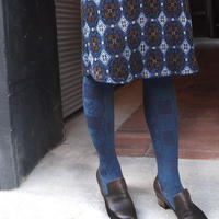 【nonnette】Heavenly bamboo  wool Tights   NT107R-88/ navy