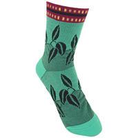 【SALE】 Dancing leaves   Socks       NS203Y-53/ emerald green