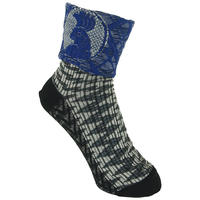 【nonnette】 Bird point  Socks    NS232T- 99 / black