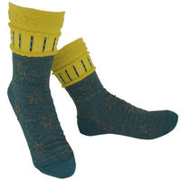 【nonnette】 Flower shower Socks     NS239Y-71/ grayish green
