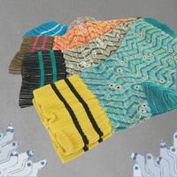 【nonnette】Snake geometry line Socks MEN NMS044Y