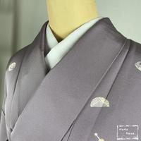【小紋】正絹 かんざし飛び柄 浅紫