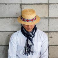 【菱刺し】カンカン帽 01