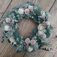 アジアンとユーカリのSpring wreath