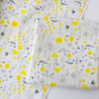 カットクロス・meadow flowers / 20番手 ハーフリネン 50cm×72cm