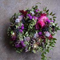野の花屋 ヘリクリサムのパープルリース