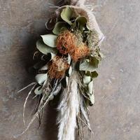 野の花屋  パンパスグラスのスワッグ