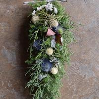 野の花屋  ホワイトクリスマス ガーランド