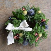 野の花屋 クリスマス リボンリース