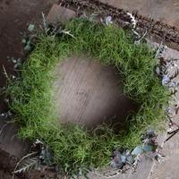 野の花屋 dry wreath+wood plate