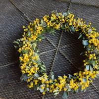 野の花屋 ミモザリース