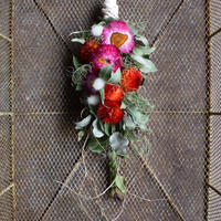 野の花屋 ヘリクリサムのスワッグ