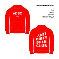 ANTI DIRTY BULK CLUB Hoodies [red]