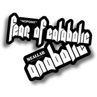 fear of catabolic & anabolic 2 STICKER PACK