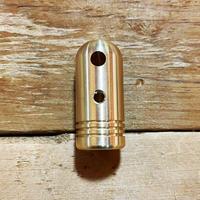 野良スティック用着せ替えハンドル【真鍮】サイズ:大(13mm径用)