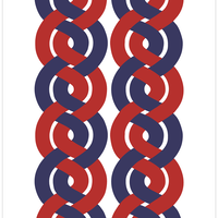 Dubbelflatan Red Blue マルチクロス (幅140cm x 長さ200cm)
