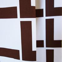 <受注販売> Linie Brown ファブリック (幅148cm x 長さ240cm)