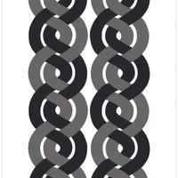 Dubbelflatan Black Grey ファブリック (幅147cm x 長さ120cm)