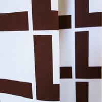 <受注販売> Linie Brown ファブリック (幅148cm x 長さ120cm)