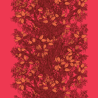 Träd Red ファブリック (幅146cm幅 x 長さ120cm)