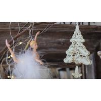 クリスマスの飾り 白いツリー