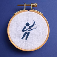 刺繍を愛するピクトグラム