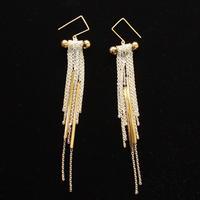 Long Tube Earrings Gold / ロングチューブイヤリング ゴールド