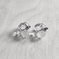 Sugar cube Earrings Clear / シュガーキューブイヤリング