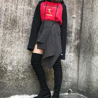 Asymmetry  mini skirt