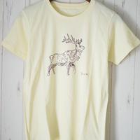 『しか』Teeシャツ  シャーベットイエロー
