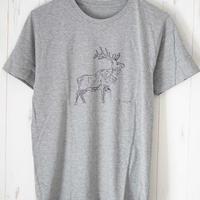『しか』Teeシャツ グレー
