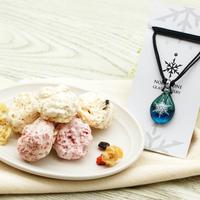 【ギフトセット】  誕生石カラーネックレス& メレンゲクランチショコラセット