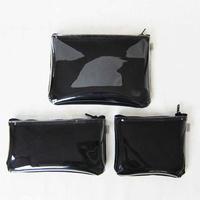 ポーチ(S/M/L)3点セット / 黒 帆布×ビニール ★紺・カーキをご希望の場合はメールにてご連絡ください。