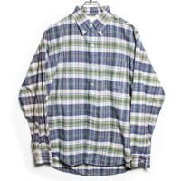 60's Atkinson Traditional  INDIA MADRAS B.D.Shirts (L)  3点留め ボタンダウン マドラスチェック ボタンダウンシャツ