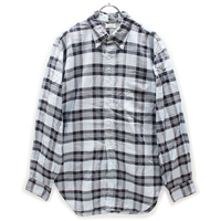 60's Deak Plaid Cotton Ox-ford B.D.Shirts (L) チェック コットン 3点留め オックスフォード ボタンダウンシャツ