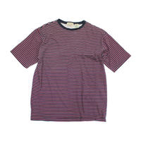 90's J.C. PENNEY ST.JOHN'S BAY STRIPED COTTON T-SHIRT NAVY/WHITE/RED(L) JCペニーボーダーTシャツ
