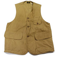 40's~ Abercrombie & Fitch Co. CANVAS HUNTING VEST (42) アバクロ ハンティングベスト ハーフムーン