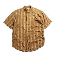 80's BANANA REPUBLIC  SAFARI & TRAVEL Cotton S/S Shirts (XL) バナリパ  サファリ&トラベル ショートスリーブシャツ 総柄